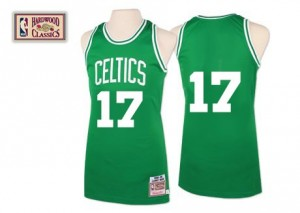 Camiseta NBA Boston Celtics John Havlicek #17 Throwback Mitchell and Ness Verde Authentic - Hombre