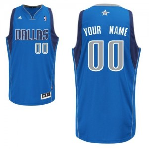Adolescentes Camiseta Swingman Personalizadas Dallas Mavericks Adidas Road Azul real