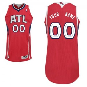 Camiseta NBA Authentic Personalizadas Alternate Rojo - Atlanta Hawks - Adolescentes