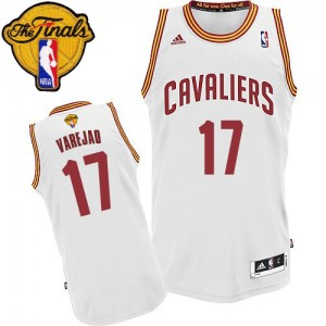 Camiseta NBA Home 2015 The Finals Patch Cleveland Cavaliers Blanco Swingman - Hombre - #17 Anderson Varejao