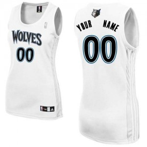 Camiseta NBA Authentic Personalizadas Home Blanco - Minnesota Timberwolves - Mujer
