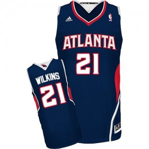 Camiseta NBA Road Atlanta Hawks Azul marino Swingman - Hombre - #21 Dominique Wilkins