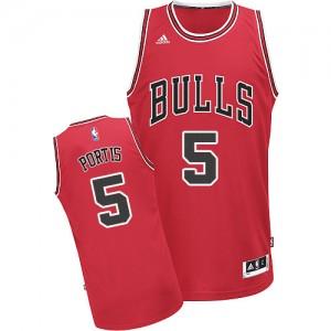 Camiseta NBA Chicago Bulls Bobby Portis #5 Road Adidas Rojo Swingman - Hombre