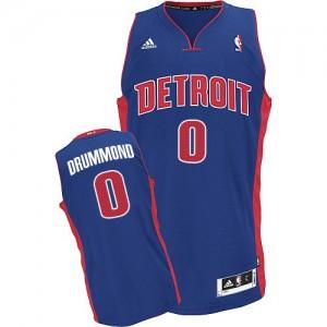Hombre Camiseta Andre Drummond #0 Detroit Pistons Adidas Road Azul real Swingman
