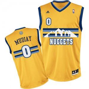 Camiseta NBA Swingman Emmanuel Mudiay #0 Alternate Oro - Denver Nuggets - Hombre