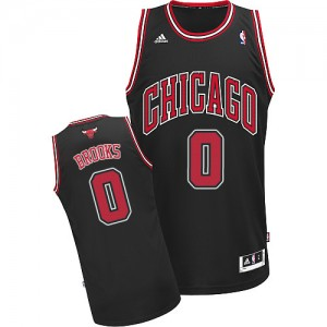 Camiseta NBA Chicago Bulls Aaron Brooks #0 Alternate Adidas Negro Swingman - Hombre