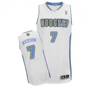 Camiseta NBA Denver Nuggets JJ Hickson #7 Home Adidas Blanco Authentic - Hombre