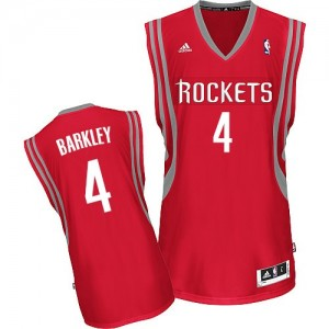 Camisetas Baloncesto Hombre NBA Houston Rockets Road Swingman Charles Barkley #4 Rojo