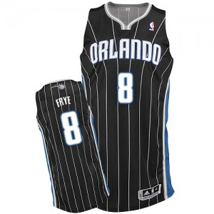 Hombre Camiseta Channing Frye #8 Orlando Magic Adidas Alternate Negro Authentic