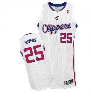 Camisetas Baloncesto Hombre NBA Los Angeles Clippers Home Authentic Austin Rivers #25 Blanco