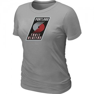T-Shirts NBA Portland Trail Blazers Big & Tall Gris - Mujer