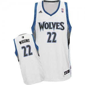 Minnesota Timberwolves Adidas Home Blanco Swingman Camiseta de la NBA - Andrew Wiggins #22 - Hombre