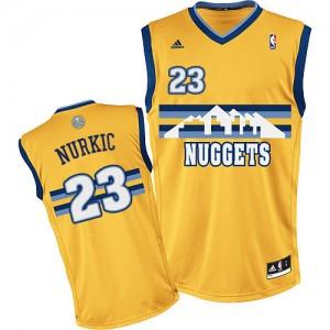 Camiseta NBA Denver Nuggets Jusuf Nurkic #23 Alternate Adidas Oro Swingman - Hombre