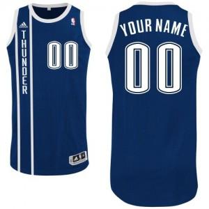 Hombre Camiseta Authentic Personalizadas Oklahoma City Thunder Adidas Alternate Azul marino