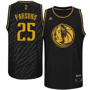 Dallas Mavericks Adidas Precious Metals Fashion Negro Authentic Camiseta de la NBA - Chandler Parsons #25 - Hombre