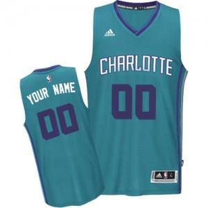 Camiseta Authentic Personalizadas Charlotte Hornets Road Azul claro - Adolescentes