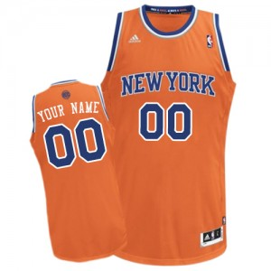 Adolescentes Camiseta Swingman Personalizadas New York Knicks Adidas Alternate naranja