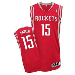 Camisetas Baloncesto Hombre NBA Houston Rockets Road Authentic Clint Capela #15 Rojo