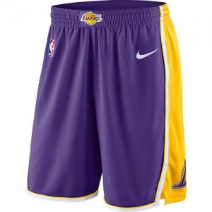 Los Angeles Lakers Púrpura Statement Swingman Pantalones de la NBA - Hombre