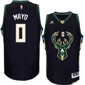 Hombre Camiseta O.J. Mayo #0 Milwaukee Bucks Adidas Alternate Negro Swingman