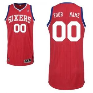 Camiseta NBA Philadelphia 76ers Authentic Personalizadas Road Adidas Rojo - Hombre