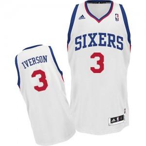 Camiseta NBA Home Philadelphia 76ers Blanco Swingman - Hombre - #3 Allen Iverson