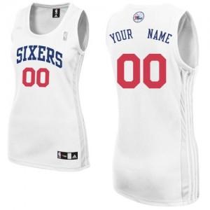 Camiseta NBA Philadelphia 76ers Authentic Personalizadas Home Adidas Blanco - Mujer