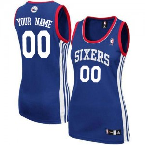 Camiseta NBA Philadelphia 76ers Authentic Personalizadas Alternate Adidas Azul real - Mujer