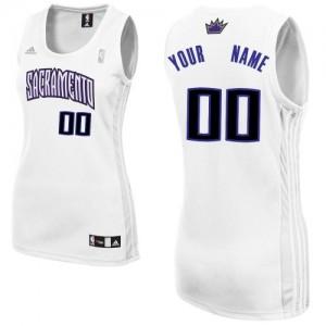 Mujer Camiseta Swingman Personalizadas Sacramento Kings Adidas Home Blanco