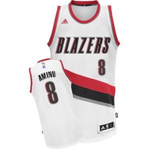 Camisetas Baloncesto Hombre NBA Portland Trail Blazers Home Swingman Al-Farouq Aminu #8 Blanco