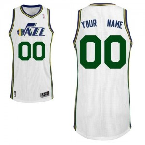 Utah Jazz Adidas Home Blanco Camiseta de la NBA - Authentic Personalizadas - Hombre