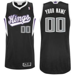 Hombre Camiseta Authentic Personalizadas Sacramento Kings Adidas Alternate Negro