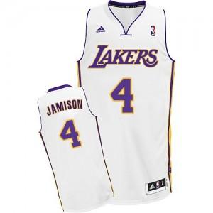 Los Angeles Lakers Adidas Alternate Blanco Swingman Camiseta de la NBA - Byron Scott #4 - Hombre