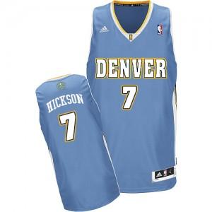 Camiseta NBA Denver Nuggets JJ Hickson #7 Road Adidas Azul claro Swingman - Hombre