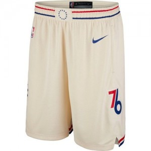 Hombre Pantalones Philadelphia 76ers Crema City Edition Swingman