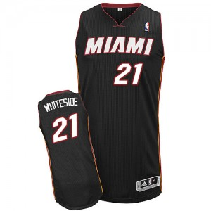 Camisetas Baloncesto Adolescentes NBA Miami Heat Road Authentic Hassan Whiteside #21 Negro