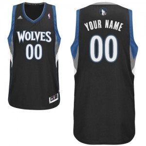Camiseta NBA Swingman Personalizadas Alternate Negro - Minnesota Timberwolves - Adolescentes