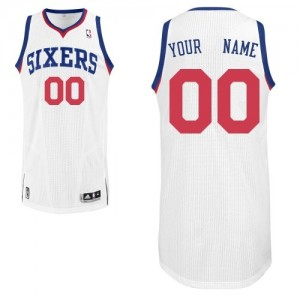 Camiseta NBA Philadelphia 76ers Authentic Personalizadas Home Adidas Blanco - Adolescentes