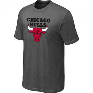 T-Shirt Hombre NBA Chicago Bulls Big & Tall Gris oscuro