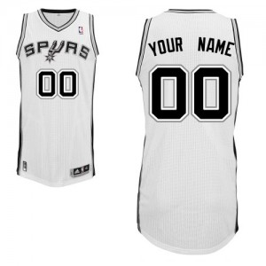 Hombre Camiseta Authentic Personalizadas San Antonio Spurs Adidas Home Blanco