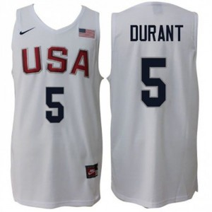 Camiseta Home Rio 2016 Olympics USA Dream Team Blanco - #5 Kevin Durant