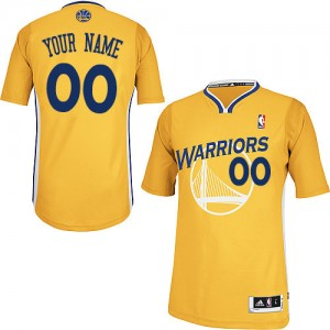 Golden State Warriors Adidas Alternate Oro Camiseta de la NBA - Authentic Personalizadas - Hombre