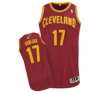Camiseta NBA Road Cleveland Cavaliers Vino Rojo Authentic - Hombre - #17 Anderson Varejao