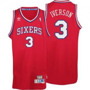 Camiseta NBA Throwack Philadelphia 76ers Rojo Swingman - Hombre - #3 Allen Iverson