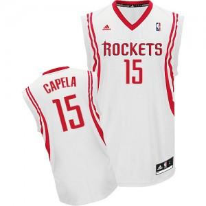 Camisetas Baloncesto Hombre NBA Houston Rockets Home Swingman Clint Capela #15 Blanco