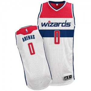 Camiseta NBA Home Washington Wizards Blanco Authentic - Hombre - #0 Gilbert Arenas