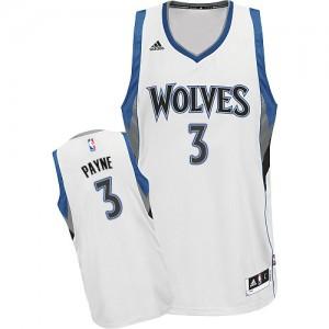 Minnesota Timberwolves Adidas Home Blanco Swingman Camiseta de la NBA - Adreian Payne #3 - Hombre