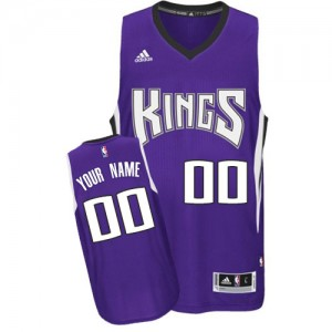 Hombre Camiseta Authentic Personalizadas Sacramento Kings Adidas Road Púrpura