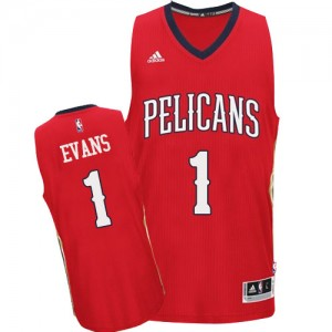 Camiseta NBA Authentic Tyreke Evans #1 Alternate Rojo - New Orleans Pelicans - Hombre