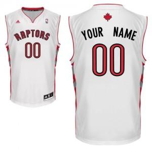 Toronto Raptors Adidas Home Blanco Camiseta de la NBA - Swingman Personalizadas - Adolescentes
